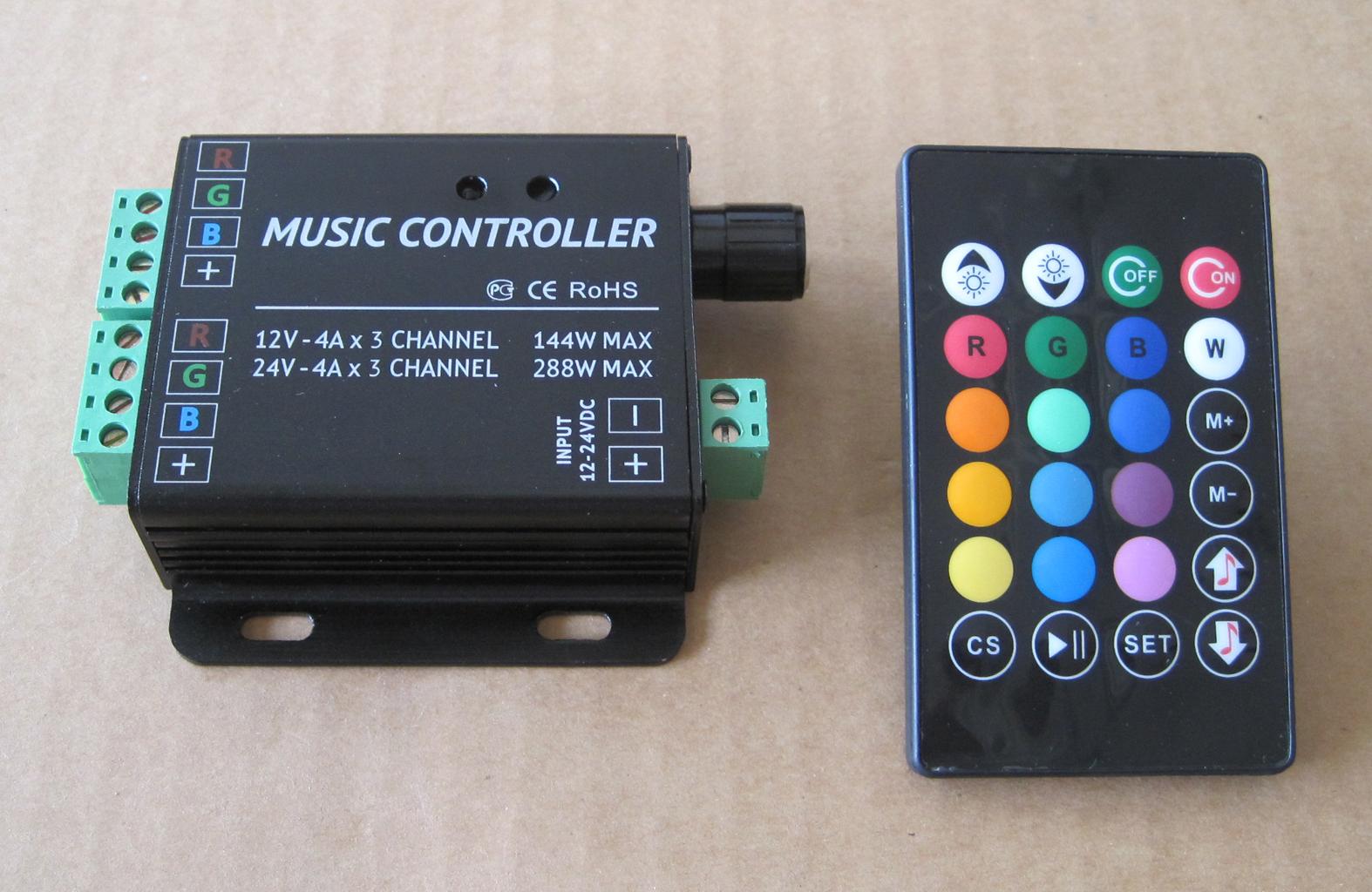 High Power Rgb Music Controller Led Ir